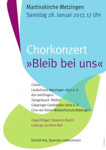 Plakat Chorkonzert 2017 Metzingen
